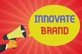 Conceptual Hand Writing Showing Innovate Brand. Business Photo Text Significant To Innovate Products poster