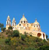 picture of senora  - Roman Catholic church of Nuestra Senora de los Remedios in Cholula Mexico - JPG