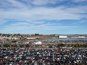 Candlestick Parking Lot Before The Start Of 49Ers Game As People Are Entering Stadium