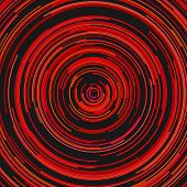 Circular Abstract Background - Graphic Design From Concentric Circular Stripes poster