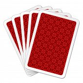 image of playing card  - vector illustration of back playing cards - JPG