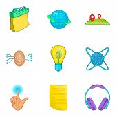 Career Icons Set. Cartoon Set Of 9 Career Icons For Web Isolated On White Background poster