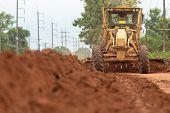 Motor Grader Civil Construction Improvement Base Road Work, Motor Grader Civil Construction poster