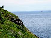 Along, Atlantic, Background, Bay, Beautiful, Blue, Blue Sky, Canada, Coast, Coastline, Cool Backgrou poster