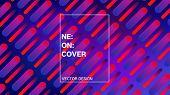 Futuristic Gradient Overlay Fluorescent Vector Pattern. Simple Landing Page Iridescent Geometric Des poster