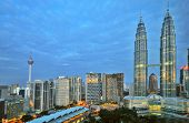 stock photo of klcc  - Early Morning in Kuala Lumpur - JPG