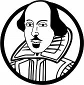 stock photo of william shakespeare  - Vector illustration of the writer William Shakespeare - JPG