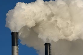 picture of carbon-dioxide  - Coal plant emitting pollution - JPG