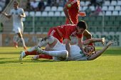 KAPOSVAR, HUNGARY - AUGUST 4: Bojan Vrucina ( in white) in action at a Hungarian National Championsh