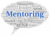 pic of mentoring  - Mentoring and teamwork concept in word tag cloud on white - JPG