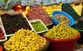 Pickled Olives And Lemons At Moroccan Market