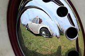 Reflection In Hubcap