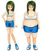 stock photo of zumba  - Illustration of the transformation of a girl - JPG