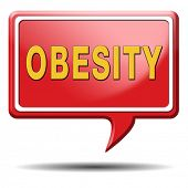 stock photo of child obesity  - obesity prevention stop over weight start campaign with diet for obese children and adults with eating disorder - JPG