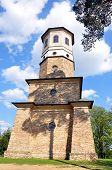 stock photo of babylon  - old lookout tower Babylon in the summer - JPG