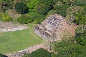 foto of atonement  - aerial view of Altun Ha maya ruins in the tropical jungle of Belize - JPG
