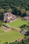 image of atonement  - aerial view of Altun Ha maya ruins in the tropical jungle of Belize - JPG