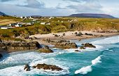 picture of atlantic ocean beach  - Sango Bay beach at Durness one of scotlands stunning North Atlantic beaches located in the northwest scottish Highlands - JPG