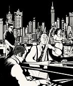 pic of singer  - Vector illustration of ta jazz band playing in New York  - JPG