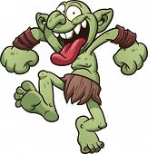 stock photo of gremlins  - Crazy cartoon troll - JPG