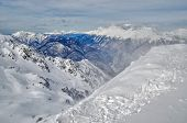 image of olympic mountains  - Olympic ski trail Rosa Khutor Sochi Russia - JPG