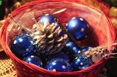Basket Full Of Ornaments