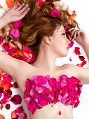 stock photo of armpit  - Female waxing armpit in a beauty salon - JPG