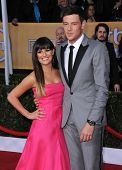 LOS ANGELES - JAN 27:  Lea Michele & Cory Monteith arrives to the SAG Awards 2013  on January 27, 20
