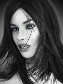 stock photo of possession  - Female vampire - JPG