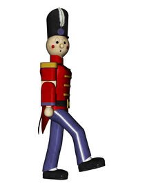 pic of tchaikovsky  - From the Nutcracker suit Toy Soldier in red uniforming marching eyes right - JPG