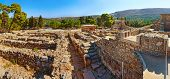 picture of minos  - Ruins of Ancient Knossos Palace at Crete island - JPG