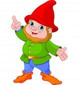 pic of gnome  -  Illustration of cute Gnome presenting - JPG