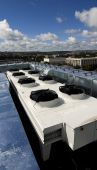 picture of air conditioning  - This photograph represents an industrial ventilation system with fans - JPG