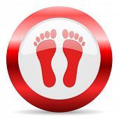 stock photo of webbed feet white  - foot glossy web icon - JPG