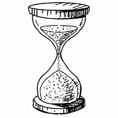 picture of sand timer  - Hourglass  - JPG