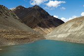 stock photo of himachal  - Suraj Taal mountain sacred lake  - JPG