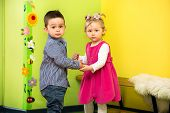 stock photo of montessori school  - Two kids in Montessori preschool Class - JPG