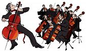 picture of orchestra  - Vector illustration of a classical orchestra - JPG