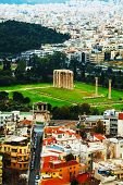 foto of olympian  - Temple of Olympian Zeus in Athens Greece on an overcast day - JPG