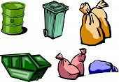 foto of waste management  - Illustrating the waste containers and waste management - JPG