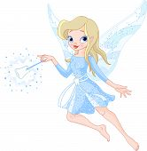picture of tooth-fairy  - A tooth fairy with a magic wand - JPG