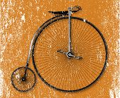 pic of penny-farthing  - Old fashioned grunge sepia background penny farthing bicycle - JPG