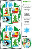 picture of christmas theme  - Christmas or New Year themed picture puzzle - JPG