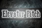 stock photo of elevators  - Elevator Pitch Concept text on background business idea - JPG