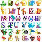 picture of jungle snake  - Vector Animal Themed Alphabet with Zoo and Jungle Animals - JPG