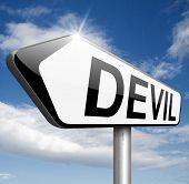 image of satan  - devil evil satan burn in hell   - JPG
