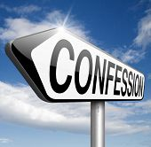 stock photo of repentance  - confession sins or plea guilty as charged and confess crime testimony or proof truth  - JPG