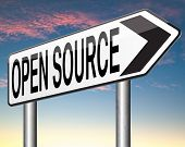 picture of open-source  - open source program software program or economy freeware internet data computer sharing  - JPG