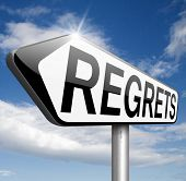 image of apologize  - regret or no regrets saying sorry and offer apologize being ashamed for bad decisions  - JPG