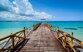 pic of indian blue  - a nice view of Zanzibar sea Tanzania - JPG